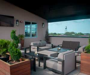 Lounge area at The Rooftop at Urban