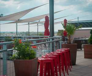 City views from The Rooftop (located directly BEHIND the restaurant at 411 W. Main Street)